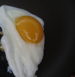 runny white and runny egg yolk