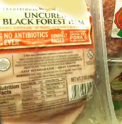 Meat label with animal raising claims